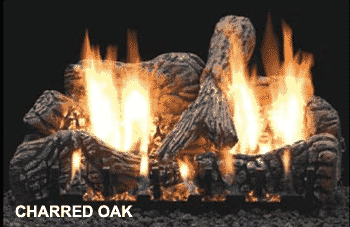 Charred Oak Log Set