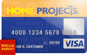 Visa home projects card